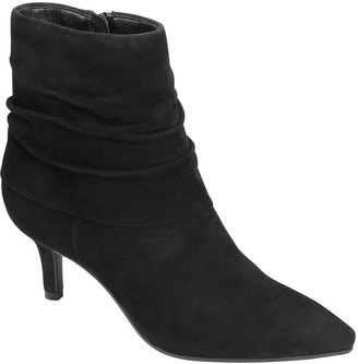 Aerosoles Ruched Suede Ankle Boots - Ramble On