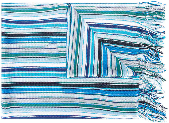 MissoniMissoni striped fringed scarf