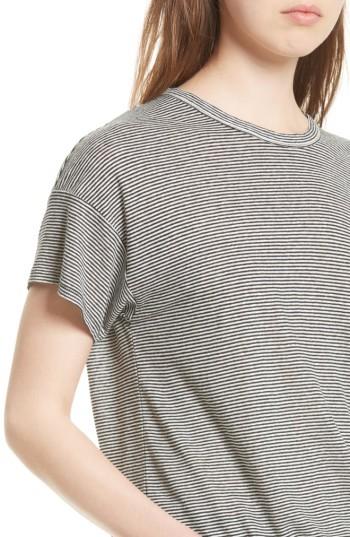 Women's Rag & Bone/jean Stripe Linen Blend Tee 3