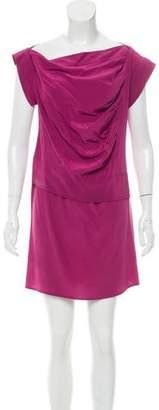 Derek Lam Bateau Neck Silk Dress