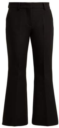 MSGM Slim Fit Crepe Cady Trousers - Womens - Black