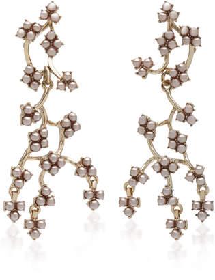 Lulu Frost Jackie Gold-Plated Crystal Earrings