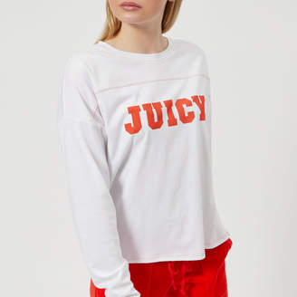 Juicy Couture Women's Juicy Logo Contrast Stitch Graphic T-Shirt