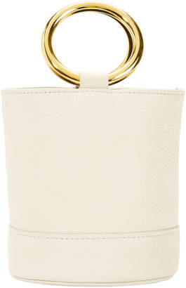Simon Miller Bonsai White Leather Mini Bucket Bag