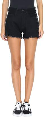 Marcelo Burlon County of Milan Kappa Denim Cotton Shorts