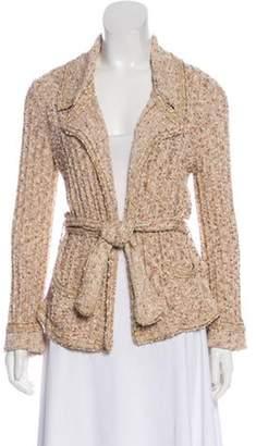Chanel Metallic Wrap Cardigan Beige Metallic Wrap Cardigan
