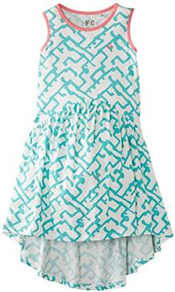French Connection Girl's Down Town Grid Sleeveless Dress