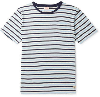 1a82943a7d3b Armor Lux Heritage Striped Cotton and Linen-Blend T-Shirt - Men - Navy