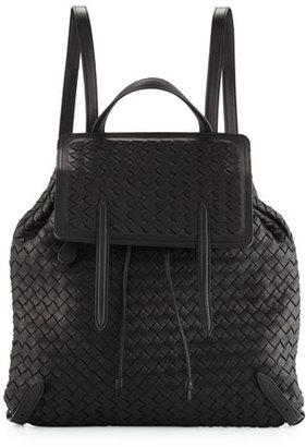 Bottega Veneta Intrecciato Medium Backpack, Black $3,300 thestylecure.com