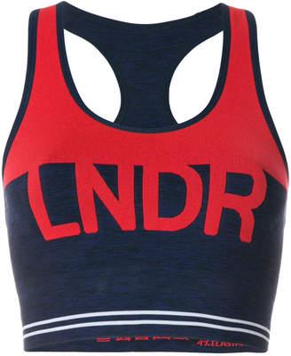 Lndr logo sports cropped top