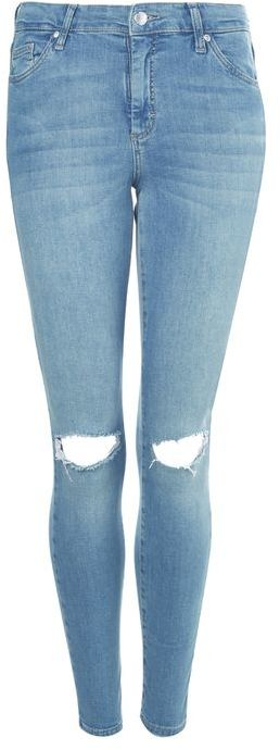 TopshopTopshop Moto blue ripped leigh jeans