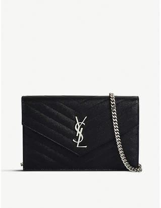 Saint Laurent Monogram quilted-leather shoulder bag