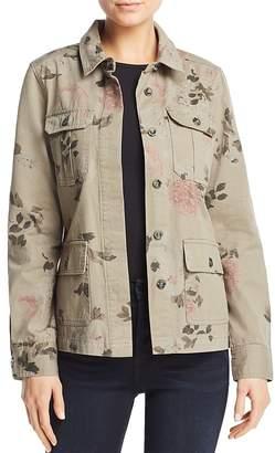 Aqua Floral Print Army Jacket - 100% Exclusive