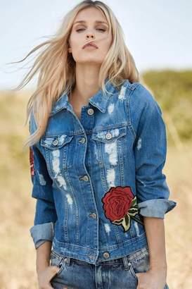 Elan International Rose Appliqué Jacket