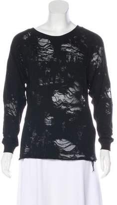 IRO Distressed Jersey Sweatshirt