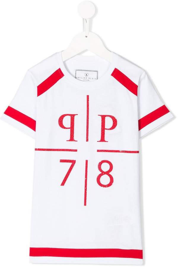 Philipp Plein Junior gem stud logo T-shirt