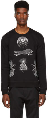 Valentino Black Eye Print Sweatshirt
