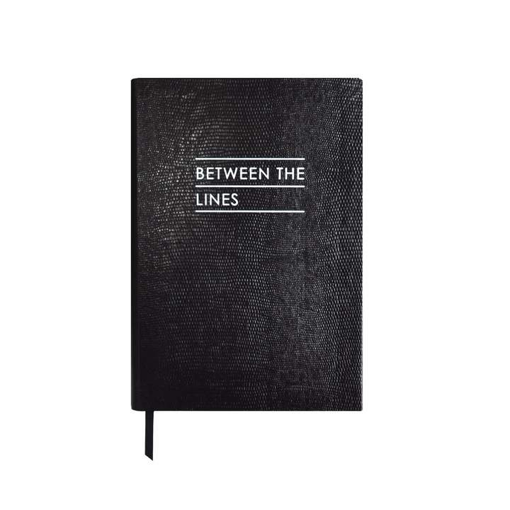 Between the Lines Notebook Black