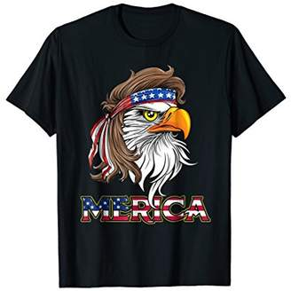 Eagle Mullet T Shirt 4th of July American Flag Merica USA