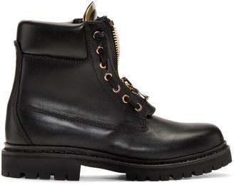 Balmain Black Taiga Combat Boots $1,210 thestylecure.com
