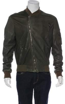 Marc Jacobs Leather Bomber Jacket