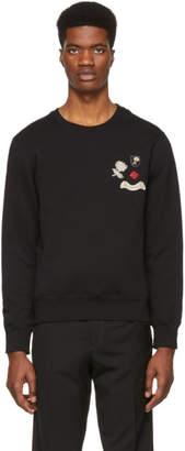 Alexander McQueen Black Crystal Sweatshirt