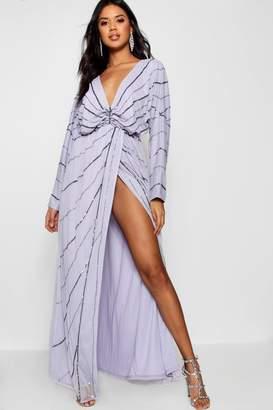 boohoo Boutique Batwing Embellished Maxi Dress