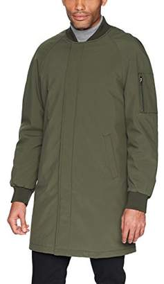 DKNY Men's Dougg Long Bomber Jacket