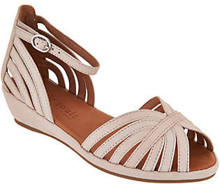 Kenneth Cole Gentle Souls by Gentle Souls Leather or Suede Peep-toe WedgeSandals - Leah
