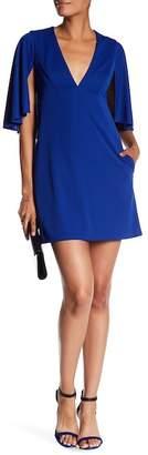 ABS by Allen Schwartz V-Neck Cape Dress