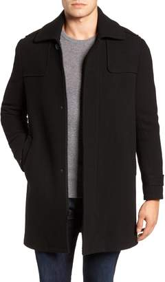 Andrew Marc Edmund Wool Blend Twill Car Coat