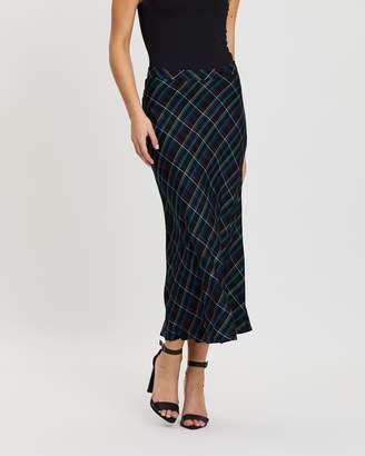 Dorothy Perkins Bias Check Midi Skirt
