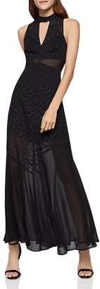 BCBGeneration Leopard Jacquard Maxi Dress