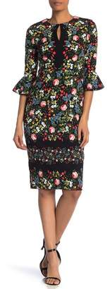 Maggy London Floral Print Sheath Dress