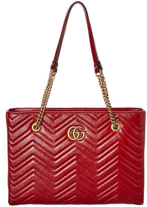 Gucci Gg Marmont Medium Matelasse Leather Tote