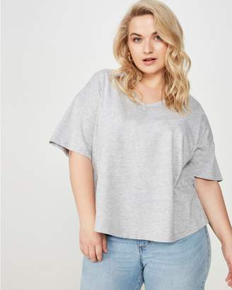 Cotton On Curve Relaxed V Neck Tee