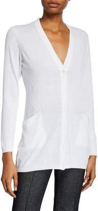 Lafayette 148 New York V-Neck Fashion Side Cardigan