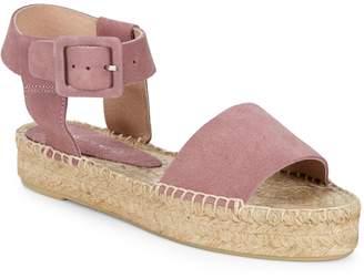 Saks Fifth Avenue Leather Ankle-Strap Platform Espadrilles
