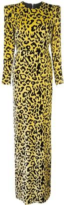 Alex Perry velvet touch side split maxi dress