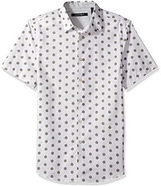AXIST Men's Short Sleeve Dot Print Shirt