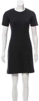 Balenciaga Short Sleeve Mini Dress Grey Short Sleeve Mini Dress