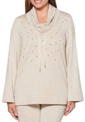 Rafaella Embellished Cowlneck Pullover