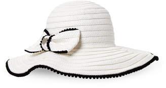 Betsey Johnson Bow Pom-Pom Floppy Hat