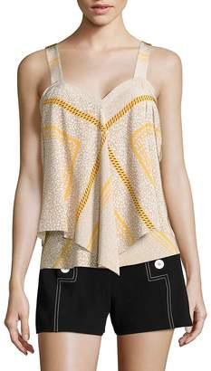Derek Lam Women's Tiered Silk Cami Top
