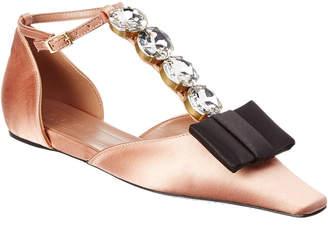 Marni Crystal T-Strap Mary Jane Flat