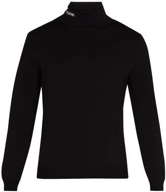 Valentino Logo roll-neck jersey sweater