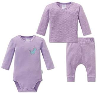 Schiesser Girls' Einhorn Baby Set Mädchen Underwear,Pack of 3