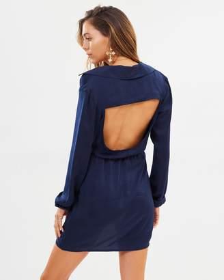 Missguided Open Back Shirt Dress