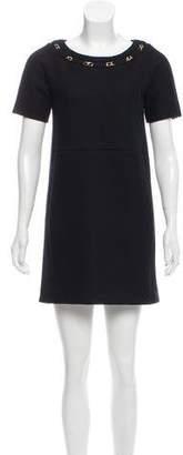Chloé Wool Chain-Link Dress