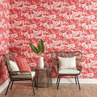 Lulu & Georgia Lady Flamingo Removable Wallpaper, Cheeky Pink
